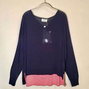 ACNE STUDIOS Navy and Red Top